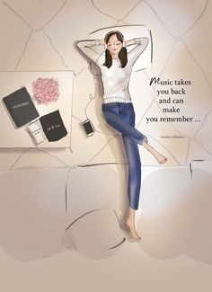 Music Takes YOU Back Heather Stillufsen Motivational Tuesday Quotes, Positive Quotes, Motivational Quotes, Girly Quotes, Self Love Quotes, New Print, Girly Drawings, Woman Quotes, Fashion Art