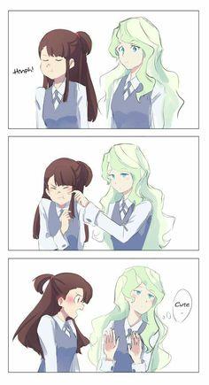 Pin by Kat on Akko x Diana in 2019 Anime Girlxgirl, Yuri Anime, Anime Kawaii, Anime Art, Cute Lesbian Couples, Lesbian Art, Cute Anime Couples, Yuri Comics, My Little Witch Academia