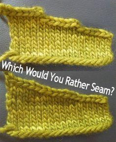 A Trick to Make Seaming Shoulders Easier (short rows instead of stair-step bind-offs)A Trick to Make Seaming Shoulders Easier (Knitting One of the disadvantages of knitting a pieced sweater is all the finishing that's involved, and…A Trick to Mak Knitting Help, Knitting Stiches, Easy Knitting, Knitting Yarn, Crochet Stitches, Knitting Needles, Knitting Short Rows, Finger Knitting, Knitting Designs