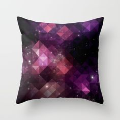 Space, Stars, Triangles, Black, Pink, Purple.