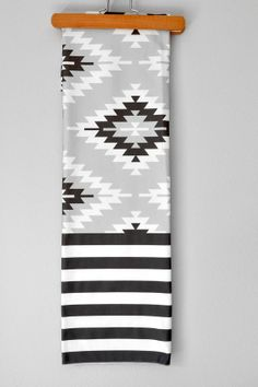 Grey Aztec Stripe Swaddle Blanket by WrenandRumor on Etsy, $36.00