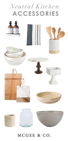 Warm Kitchen Accessories - Studo McGee