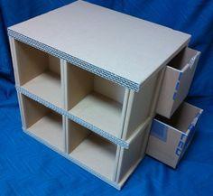 Table out of cardboard boxes Diy Cardboard Furniture, Cardboard Box Crafts, Cardboard Design, Cardboard Paper, Diy Furniture, Office Furniture, Diy Storage Boxes, Desk Organization Diy, Diy Arts And Crafts