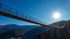 SkyBridge, longest pedestrian suspension bridge in US, to open in Gatlinburg Gatlinburg Tennessee, Pedestrian Bridge, Smoky Mountain National Park, Suspension Bridge, Great Smoky Mountains, Places To See, Traveling By Yourself, Travel Photography, Beautiful Places
