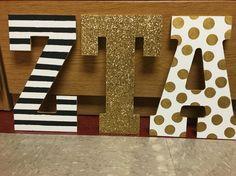 Zeta Tau Alpha little letters!