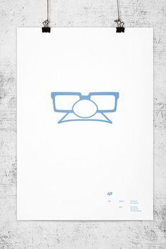 Pixar movies minimal posters. $25 each