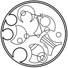 """""""This star won't go out"""" written in circular Gallifreyan requested by still-not-bothered"""