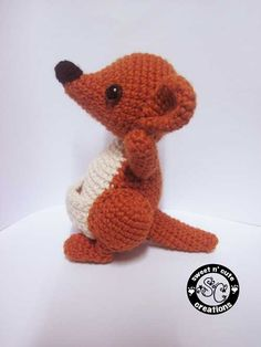 Kellie Kangaroo amigurumi crochet pattern by Sweet N' Cute Creations
