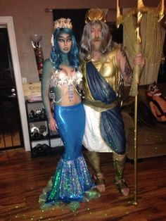king triton and ariel costume festa infantil pinterest. Black Bedroom Furniture Sets. Home Design Ideas