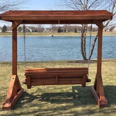 The finest best built Bench Swing Sets on the market. These lovely garden bench swings are truly built to last decades in any weather. Outdoor Wooden Swing, Wooden Swings, Outdoor Decor, Crest Hill, Bench Swing, Swing Sets, Best Build, Pergola Kits, Patio Ideas