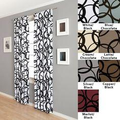 Nirvano Rod Pocket 96-inch Curtain Panel in / Black