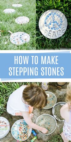 How to make concrete stepping stones with kids