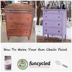 DIY Chalk Paint for Furniture by FunCycled.com
