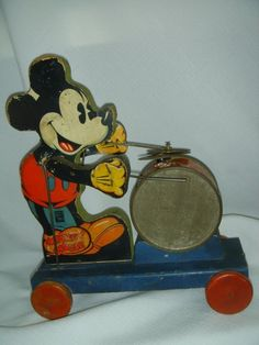 Vintage Fisher Price 1937 Mickey Mouse Drummer 795 RARE | eBay