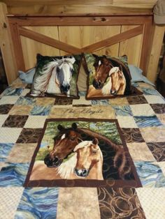 western quilt - nice way of framing a panel with solid or simple prints.