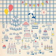Happy birthday buffet by stefaniamanzi on Etsy