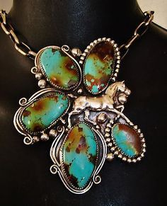 NATIVE-AMERICAN-TURQUOISE-LEATHER-BRACELET-94g-Sterling-Silver-G-CHAVEZ-4-034-wide