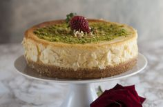 Cheesecake fara zahar cu mascarpone si fistic