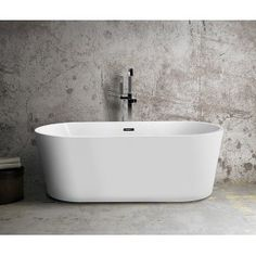 Luxier Luxury x Freestanding Soaking Bathtub Blair House, Soaking Bathtubs, Bathroom Styling, Bathroom Ideas, Gallon Of Water, Home Additions, Faucet, Luxury, Metal