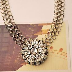 Flower Pendant Hollow Chainmaille Necklace