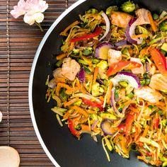 ALDI België - Recept - Oosterse wok met zalm