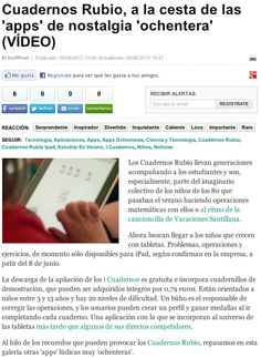 Nota de prensa sobre iCuadernos by Rubio en Huffington Post.