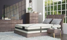 "VERITAS VH1000 12"" Plush Hybrid Mattresses | The Dump Luxe Furniture Outlet Luxury Furniture Brands, Furniture Outlet, Mattresses, California King, Comfortable Fashion, Outdoor Furniture, Outdoor Decor, Memory Foam, Plush"