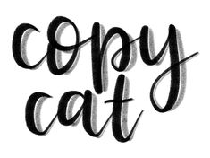 Copy Cat is a free lettering brush for the Procreate app that comes with a built-in shadow and a cool texture. Brush Lettering, Hand Lettering, Copycat, Brushes, Free Stuff, Ipad Pro, Apple, Digital, Art