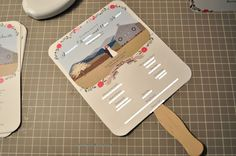 DIY wedding program fans  How many times have could I have put this idea to use!