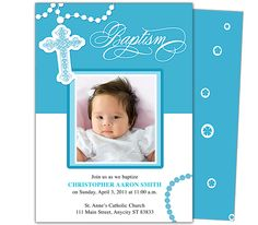 Baby Baptism/Christening Invitations: Printable DIY Infant Baby Baptism Invitation Template