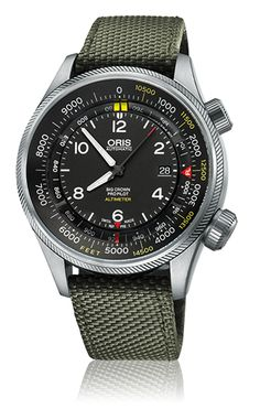 Oris Big Crown ProPilot - Oris Big Crown ProPilot Altimeter with Feet Scale 01 733 7705 4134-07 5 23 14FC