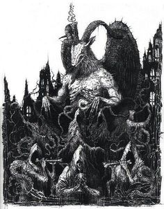 scary art Black and White creepy horror dark skull satan darkness Macabre cult devil occult dark art Demon Art, Arte Horror, Horror Art, Arte Black, Satanic Art, Evil Art, Dark Artwork, Creepy Horror, Arte Obscura