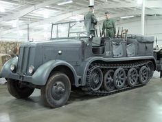 """The Sonderkraftfahrzeug 8 (""""special motorized vehicle 8"""") was a German half-track that saw widespread use in World War II. Its main roles were as a prime mover for heavy towed guns such as the 21 cm Mörser 18, the 15 cm Kanone 18 and the 10.5 cm FlaK 38. Approximately 4,000 were produced between 1938 and 1945. It was used in every campaign fought by the Germans in World War II, notably the Invasion of Poland, the Battle of France, the Balkans Campaign, the Eastern Front..."""