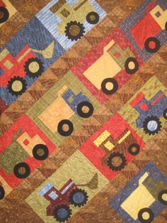 Cute boys quilt idea!...........one day... maybe for grandchildren lol
