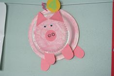farm animal crafts for toddlers - Easy paper plate pig!