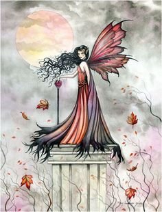 Fairy Art by Molly Harrison - Autumn Winds
