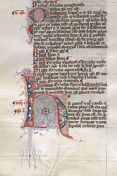 Germany 1359 Latin Puzzle-letter H with letter-detail red-ink purple-ink.illuminated manuscript