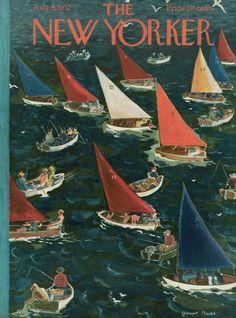 Garrett Price : Cover art for The New Yorker 1434 - 9 August 1952