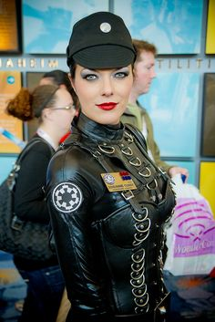 Adrianne Curry as an Imperial Officer of the 501st Legion by hamish11, via Flickr.    Damn.