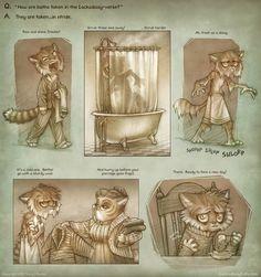 Shower ~ Lackadaisy Cats