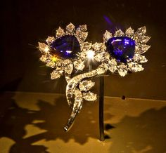 Smithsonian Natural History Museum Tanzanite and Diamond Brooch.