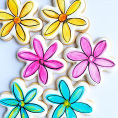 Sugar Cookies Assortment of Flower Cookies by Sweetsillustrated