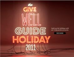 Madewell 2011 Holiday Guide