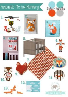 Fantastic Mr. Fox Nursery Design Board by Love a Rhino  www.facebook.com/LoveARhino