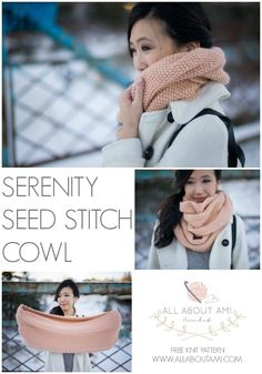 Serenity Seed Stitch Cowl 2019 Free knitting pattern for this gorgeous cowl! The post Serenity Seed Stitch Cowl 2019 appeared first on Scarves Diy. Easy Knitting, Loom Knitting, Knitting Stitches, Knitting Patterns Free, Knitting Machine, Knitted Cowl Patterns, Knit Scarves Patterns Free, Snood Knitting Pattern, Infinity Scarf Knitting Pattern
