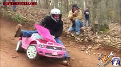 Extreme Barbie Jeep Racing: ANKLE SNAPPING CRASH