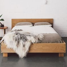 love the natural wood frame with exposed nails
