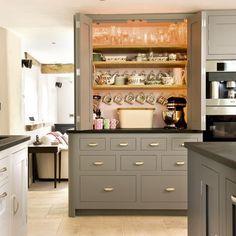 Larder cupboard | Take a tour around a grey-painted Shaker-style kitchen | Reader kitchen | PHOTO GALLERY | Beautiful Kitchens | Housetohome