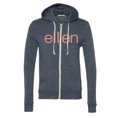 00eaf6255 Zip Hoodie Ellen Degeneres Show, Hooded Jacket, Athletic, Sweaters,  Jackets, Shopping