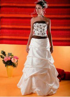 Robe de mariee faux bustier